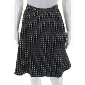 Boden Black Gray Wool Blend A-Line Skirt Size 12